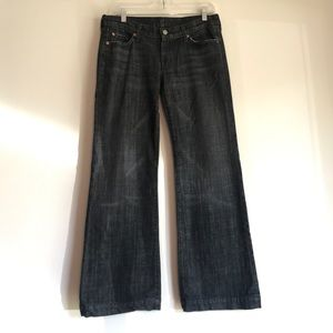7FAM 7 For All Mankind Black Dojo Jeans Size 30